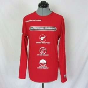 Under Armour Compression Shirt Red Promo Men's XL